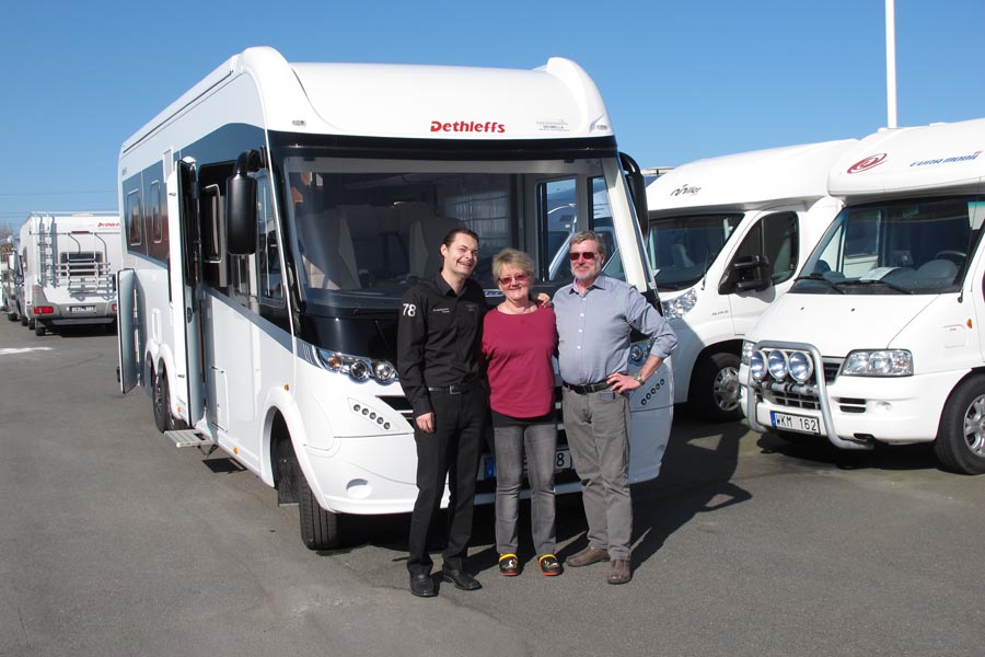 Första Dethleffs XLI Premium husbilen lämnar Husvagns-Expo Bromölla!