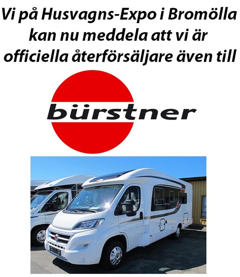 Officiella återförsäljare till Bürstner!