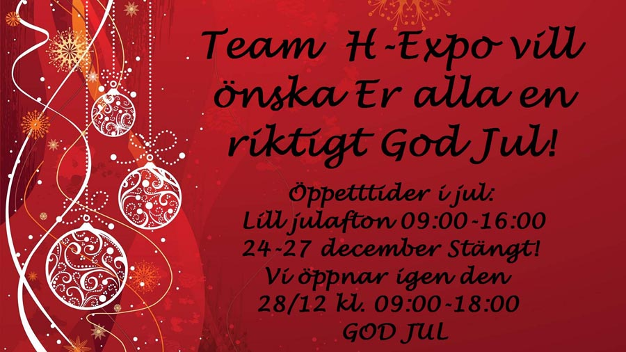 GOD JUL önskar Team H-Expo!